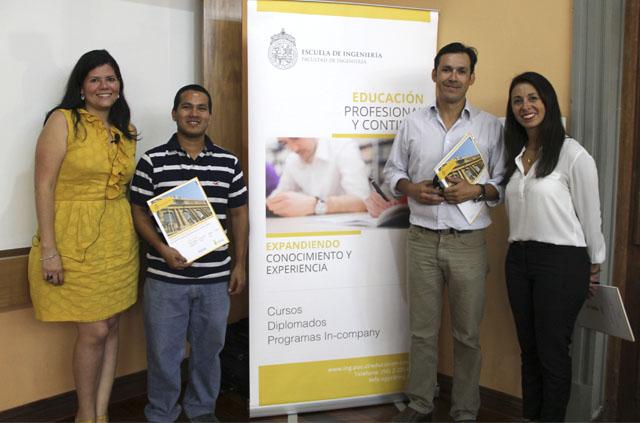 Dos participantes a la charla informativa realizada por Educación Profesional Ingeniería UC ganaron media beca para estudiar un programa de su interés