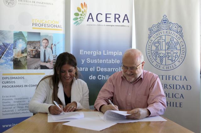 Educación Profesional firma convenio con Asociación Chilena de Energías Renovables