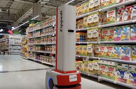 Zippedi, el robot chileno que de noche espía los miles de productos del supermercado