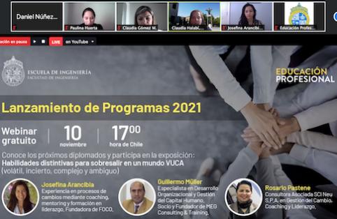 Lanzamiento de Programas 2021 de Educación Profesional Ingeniería UC