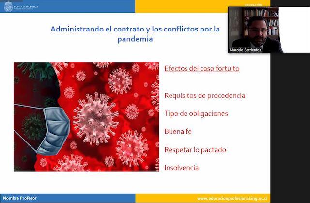 Webinar UC: «Cumplimiento de contratos en tiempo de pandemia»